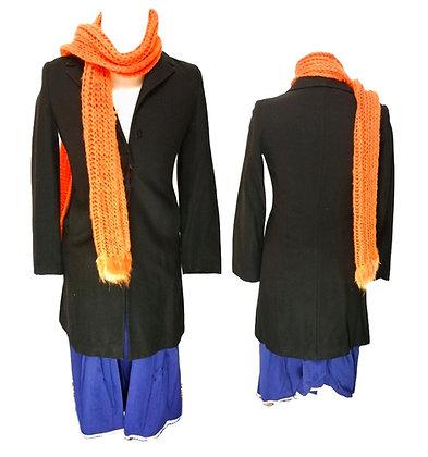 Bufanda de ganchillo naranja