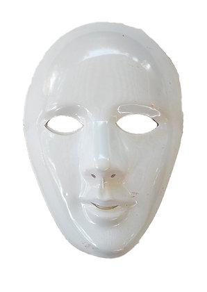 Careta plástico blanca