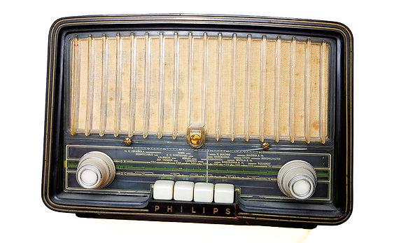 Radio de válvulas Philips ibérica operativa