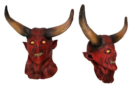 Máscara integral de látex de diablo