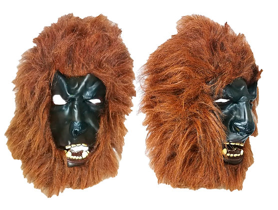Máscara látex hombre lobo rojo