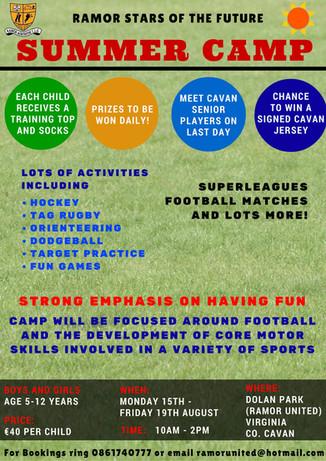 Ramor Summer Camp Registration