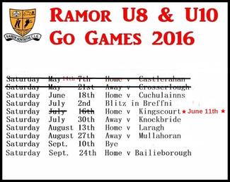 RAMOR U8 / U10 Go Games 2016