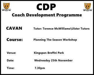 Cavan Coaching Development Programme