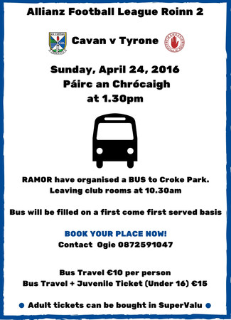 Bus organised to Croke Park