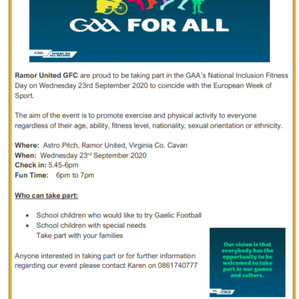 GAA Inclusion Fitness Day