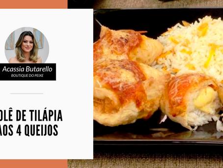 Rolê de Tilápia aos 4 queijos