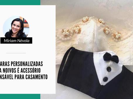 Máscaras personalizadas para noivos é acessório indispensável para casamento