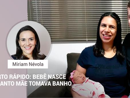 Parto rápido: Bebê nasce enquanto mãe tomava banho