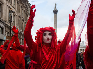 Extinction Rebellion protesters in London October 2019