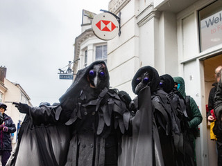 Extinction Rebellion flock to the banks of Falmouth 15/02/20