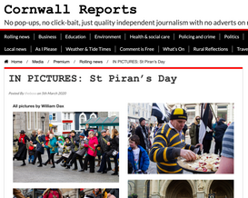 St Pirans Day photos published in Cor- wall Reports.