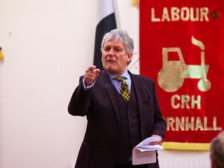 Paul Farmer at Labour Party general election campaign launch. Camborne, 4/11/19