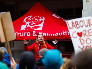 Labour Party 'March for the many in Truro' 30/11/19