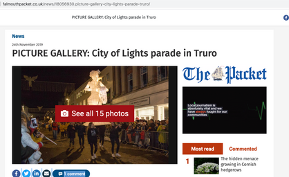The Truro City of Lights Parade 2020 published in the Falmouth Packet