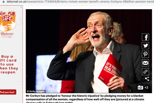 Labour leader Jeremy Corbyn cupping his ear at a climate change rally in Falmouth, Cornwall 27/11/19, published in The Daily Mail