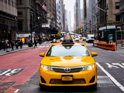 New York Taxi, USA.  November 2018