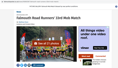 My photos of the Falmouth Mob Match 5 mile race, published in the Falmouth Packet