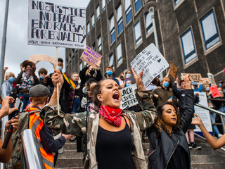 Black Lives Matter protest Plymouth, June 2020
