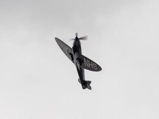 Spitfire flying over Tavistock hospital