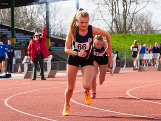 Sprinters in the 400m, Exeter Devon.