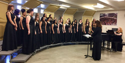 Singing at Music in the Parks competitio