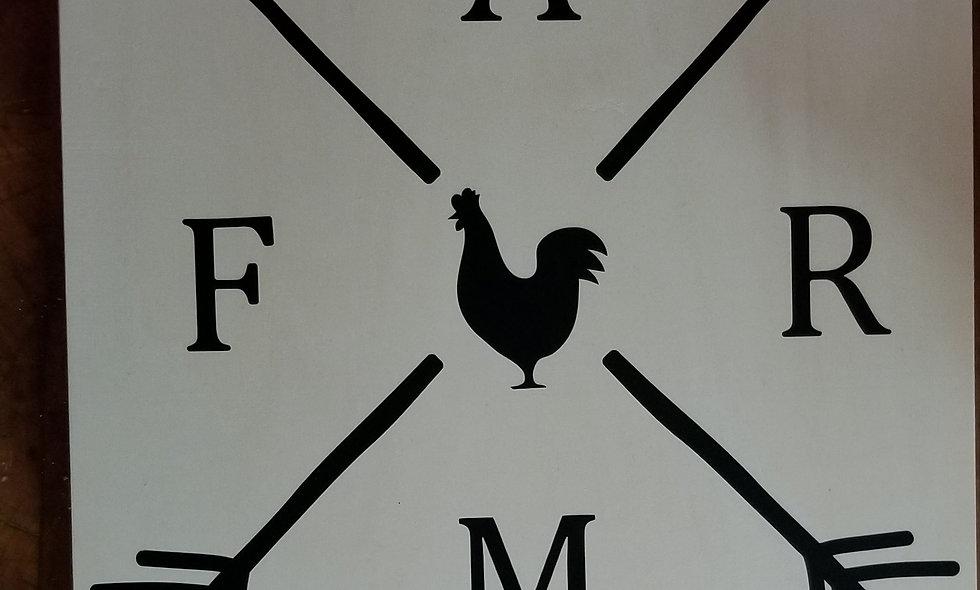 Farm arrow sign