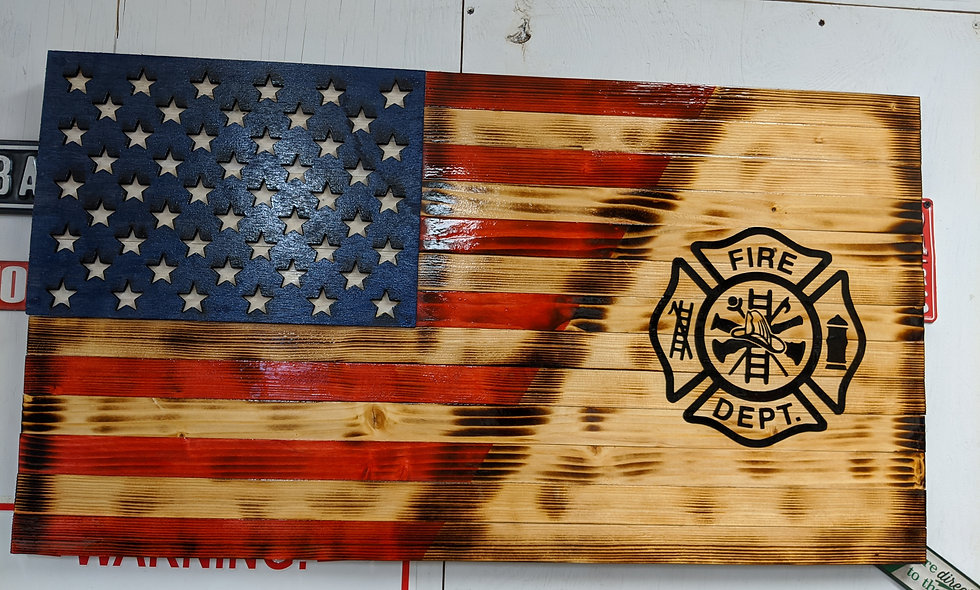 Fire Department American Flag