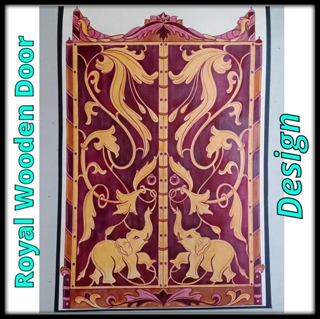 Royal Wooden Door