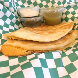 Quesadilla on Stacey's Organic Tortillas w/Sour Cream & Salsa