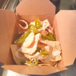 Nachos in Hot Cashew Cheese Sauce