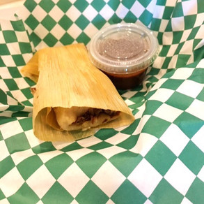 RED JACK TAMALE W/ RED SAUCE