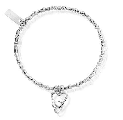 ChloBo Mini Cube Interlocking Love Heart Bracelet