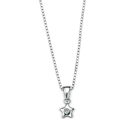 D for Diamond Star Pendant and Chain