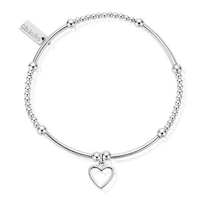 ChloBo Cute Mini Open Heart Bracelet