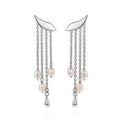 Claudia Bradby Legertha White Pearl Cascade Wing Earrings