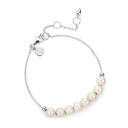 Claudia Bradby Angelina White Pearl Chain Bracelet