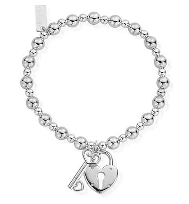 ChloBo Mini Small Ball Lock & Key Bracelet