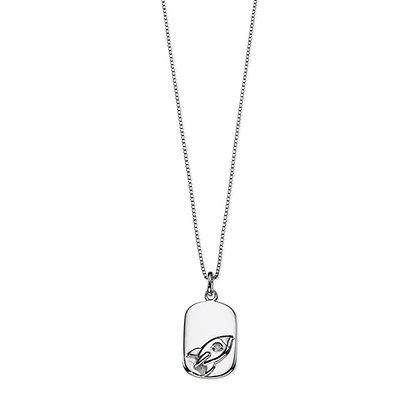 D for Diamond Rocket Necklace