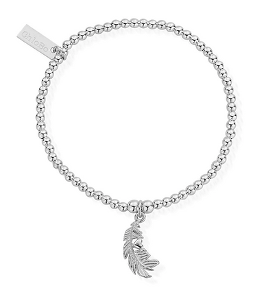 ChloBo Cute Charm Feather Heart Bracelet