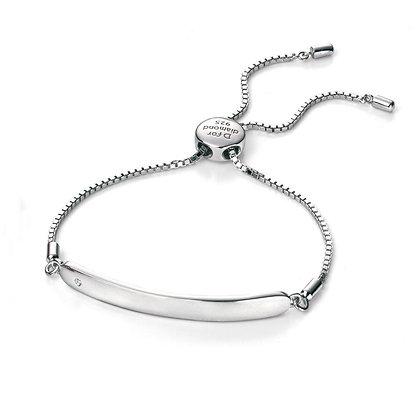 D for Diamond Drawstring ID Bracelet