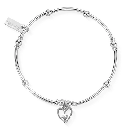 ChloBo Mini Noodle Ball Heart in Heart Bracelet