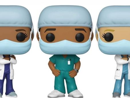 Funko lança linha de bonecos em homenagem aos profissionais da saúde
