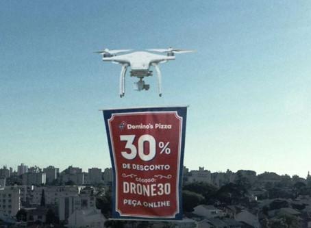 Domino's usa drones para entregar descontos