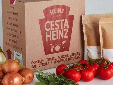 Heinz transforma seus ingredientes em cestas de alimentos para doação