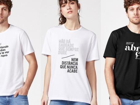 """Hering lança """"Camisetas com Amor"""" e doará 100% do lucro para a compra de ventiladores pulmonares"""