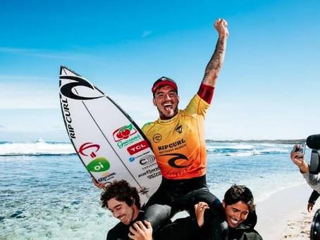 Medina já é o 9º maior vencedor da história do surfe