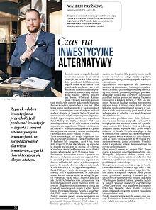 Czas na inwestycyjne alternatywy Walerij Pryżkow WP Capital Poland Gdansk Carl F. Bucherer watch zegarki Jubitom luxury Trójmiasto