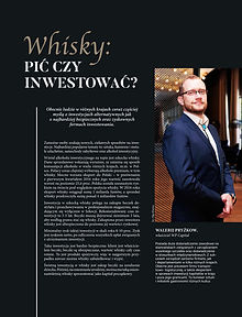 Whisky: pić czy inwestować? Walerij Pryżkow WP Capital Gdańsk Trójmiasto Poland Gdansk Stilnovisti Polska Szkocja luksus investment whisky