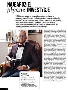 Najbardziej płynne inwestycje Walerij Pryżkow WP Capital inwestycje w whisky stilnovisti Gdańsk Trójmiasto investment Polska Poland